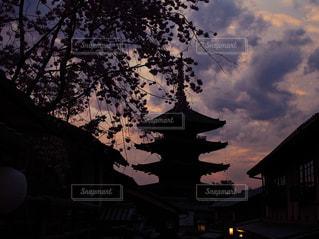 京都の夕焼け。日本の夕焼けの写真・画像素材[966337]
