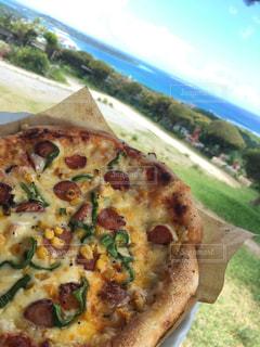ピザと海と空の写真・画像素材[899827]