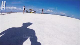 ビーチ,雲,青空,沖縄,影,旅行,水納島,人影,空と海