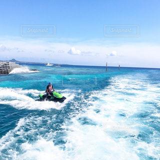 海,ビーチ,雲,青空,沖縄,旅行,水納島,ジェット,空と海
