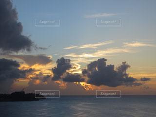 風景,海,空,夕日,雲,夕焼け,夕暮れ,グアム