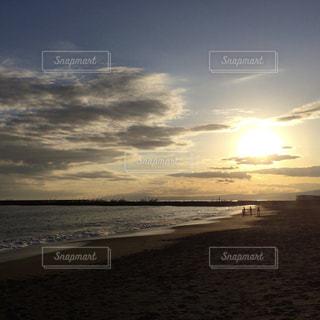 風景,海,空,夕日,雲,夕焼け,夕暮れ,湘南,茅ヶ崎,サザンビーチ