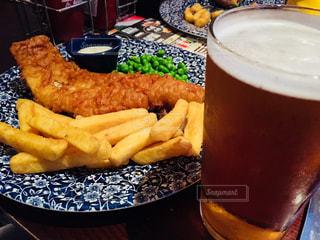 食べ物,食事,テーブル,イギリス,ビール,レストラン,オックスフォード,フィッシュ&チップス