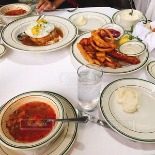 食べ物,食事,アメリカ,テーブル,皿,ハワイ,ウルフギャング