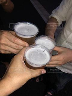 夏,コップ,イベント,グラス,ビール,乾杯,ドリンク,祭,プラスチック,プラスチックグラス