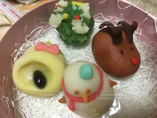 和菓子,クリスマス,雪だるま,ツリー,ベル,トナカイ,りぼん,可愛いスイーツ