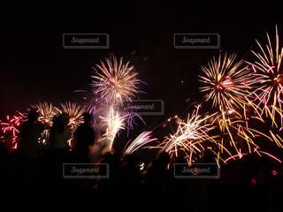 空に花火の写真・画像素材[1314038]
