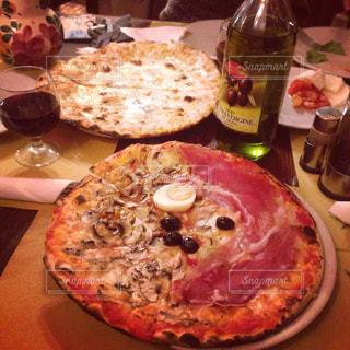 食事,お酒,ローマ,旅行,ワイン,イタリア,晩御飯,海外旅行,カプリチョーザ,ピザ,allecarrette