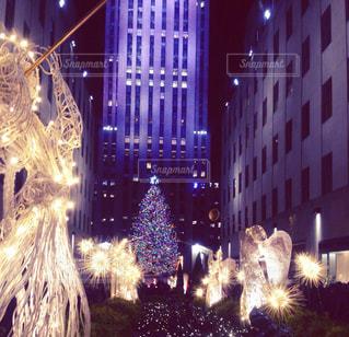 冬,ニューヨーク,イルミネーション,クリスマス,マンハッタン,クリスマスツリー