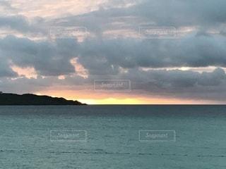 自然,海,夕焼け,海岸,沖縄,オレンジ,旅行,宮古島