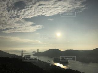 自然,海,夕日,屋外,客船,長崎,鍋冠山