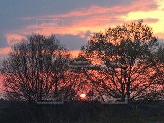 夕陽が落ちる時の写真・画像素材[873378]