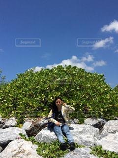 初めての沖縄にワクワクの写真・画像素材[1097456]