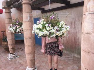 花と私の写真・画像素材[892816]