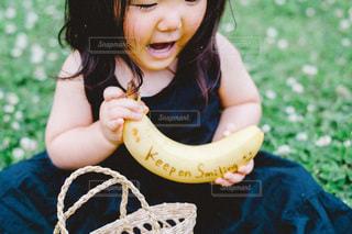 風景,屋外,笑顔,赤ちゃん,幼児,バナナ