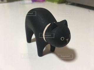 黒猫の置物の写真・画像素材[868602]