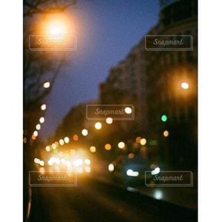 夜に光の停止の写真・画像素材[1876646]