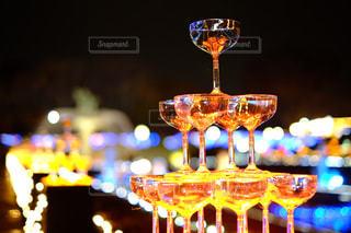 夜、ワインの写真・画像素材[1913161]