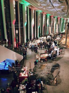 冬,クリスマス,人混み,展示会,クリスマスマーケット