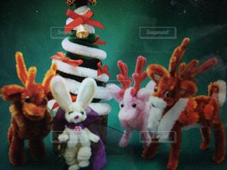 冬,ハンドメイド,モール,動物達のクリスマス