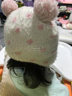娘の冬帽子の写真・画像素材[876453]