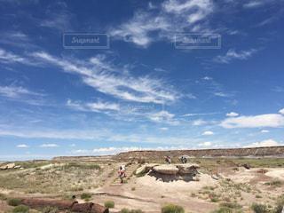 砂漠の青空の写真・画像素材[1114285]