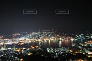 夜,夜景,屋外,キラキラ,山頂,長崎,稲佐山,世界新三大夜景