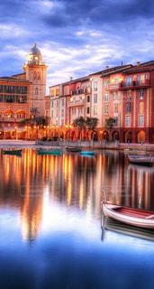 建物,小舟,綺麗な場所、素敵な場所、美しい風景,綺麗な風景、素敵な風景、美しい風景