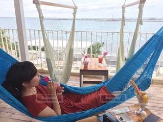 カフェ,海,屋外,沖縄,ハンモック,旅行,インスタ