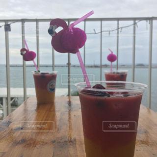カフェ,海,屋外,ピンク,沖縄,旅行,インスタ