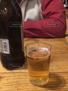 ビールと言えば瓶ビール泡なしの写真・画像素材[927738]