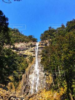 森の中の大きな滝の写真・画像素材[1448168]