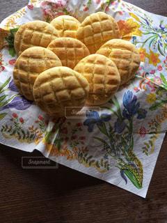 秋,パン,テーブル,手作り,メロンパン,食欲,食欲の秋,紙ナプキン