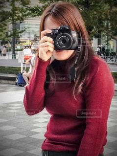 カメラ女子の写真・画像素材[1587594]
