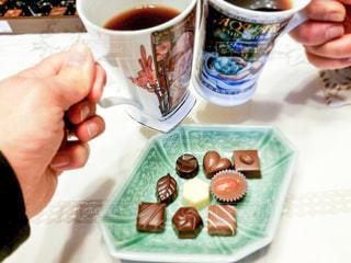 コーヒー,マグカップ,チョコレート,バレンタイン,乾杯,チョコ,自宅,バレンタインデー
