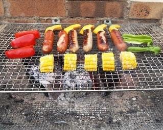 食べ物,庭,屋外,野菜,グリル,チーズ,たくさん,料理,調理,バーベキュー,ソーセージ,BBQ,自宅,炭火,プレーン,アンバサダー,ジョンソンヴィル