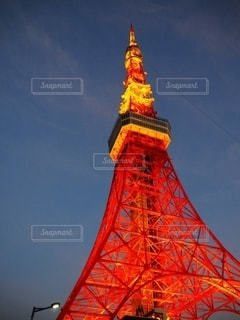 夜の東京タワーの写真・画像素材[2623701]