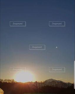 自然,空,屋外,太陽,光,朝焼け,日の出,早朝,山梨県,北杜市