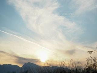 自然,風景,空,雪,屋外,太陽,雲,青空,山,光,高原,山梨県,日中,クラウド,すすき,北杜市