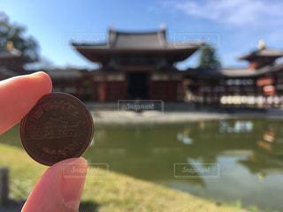 屋外,京都,平等院鳳凰堂,キレイ,10円玉