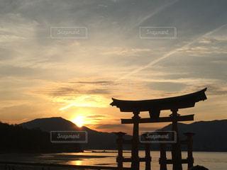 夕焼けの大鳥居の写真・画像素材[982399]