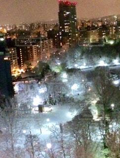 雪の夜景の写真・画像素材[880579]