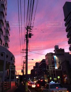 街のシルエットの写真・画像素材[884302]