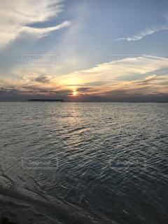 海,沖縄,夕陽