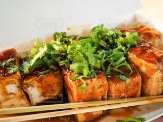 アジア,旅行,台湾,台北,寧夏夜市,台湾ごはん,揚げ豆腐