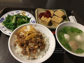 スープ,豆腐,台湾,台湾料理,肉飯,デパート内