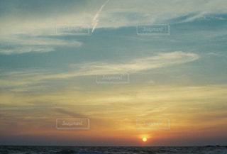 自然,海,空,雲,夕陽,千葉県,フィルム写真