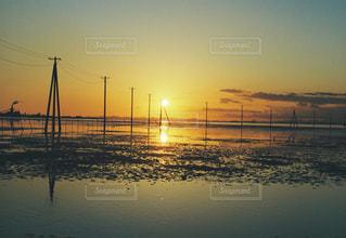 自然,海,空,夕陽,千葉県,フィルム写真