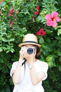 カメラ女子の写真・画像素材[1828636]