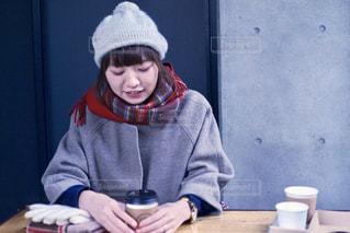 冬のカフェの写真・画像素材[886765]